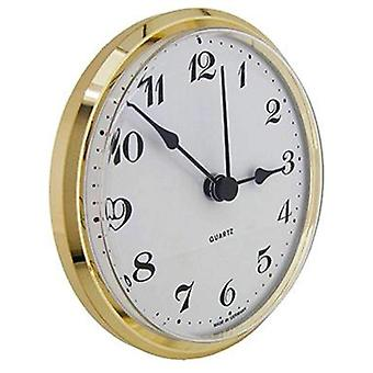 Clock movement quartz insertion arabic numerals Ø103mm white dial