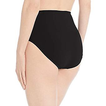 24th & Ocean Women's High Waist Hipster Bikini, Black//Solid, Size Large