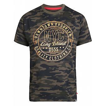DUKE Duke Camouflage NYC Print T Shirt