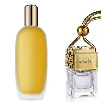 Clinique Aromatics-ElixirFor Her Inspired Fragrance 8ml Gold Lid Bottle Hanging Car Vehicle Auto Air Freshener