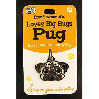 Wags & Whiskers Pet Identity Tag - Pug