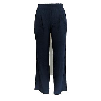 Anybody Women's Pants (XXS) Cozy Knit Wide-Leg Pants Blue A347172