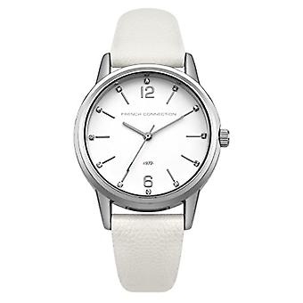 French Connection-Analog wristwatches, female, PU strap, white