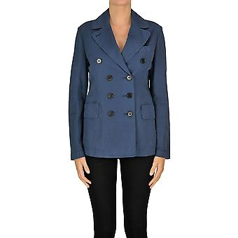 Aspesi Ezgl050080 Kvinnor's Blue Cotton Blazer