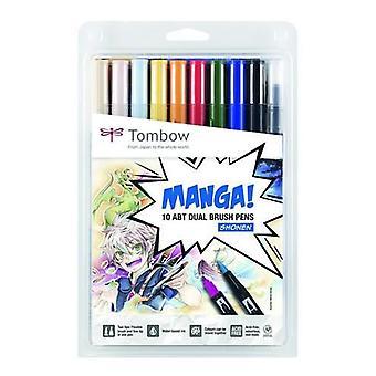 Tombow ABT Dual Brush Pen Manga-Set Shonen 10 pcs ABT-10C-MANGA1