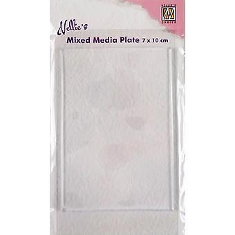 Nellie's Choice Gelplate rectangle 7x10cm NMMP003