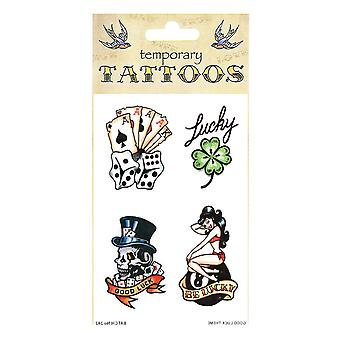 Bristol Novelty Good Luck Theme Temporary Tattoos (Pack Of 10)