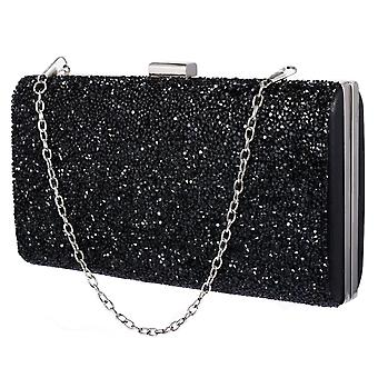 Glittery Envelope Bag - Black
