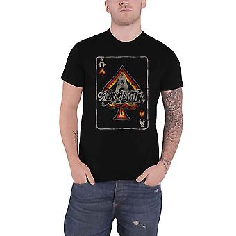 Aerosmith T Shirt Ace of Spades Vintage Band Logo new Official Mens Black