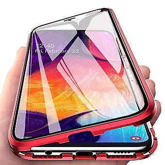 Powłoka Samsung Galaxy A50 z osłoną ekranu red