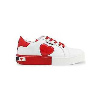 Love Moschino - Shoes - Sneakers - JA15023G1AIF_110C - Ladies - white,red - EU 35