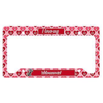 Carolines Schätze LH9161LPF Weimaraner Valentine's Liebe und Herzen Lizenz Pl