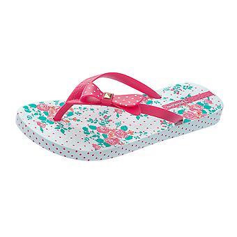 Grendha Bouquet Sandal Womens Flip Flops / Sandals - Gold Blue