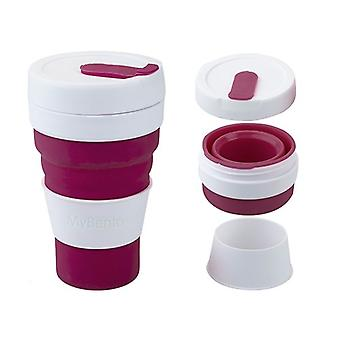 Summit Mybento Grande Pop Cup 450ml Opvouwbare Siliconen Coffee Cup Mok Travel Foldable - Berry