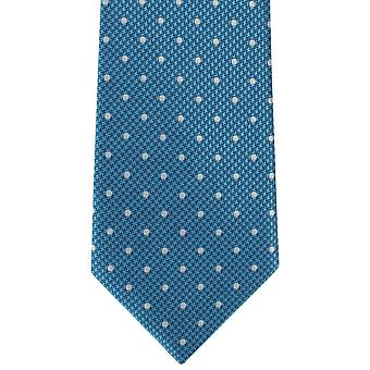 Michelsons of London Puppy Tooth Spot Polyester Tie - Teal Blue