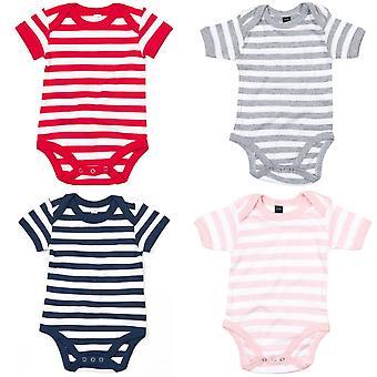 Babybugz Baby Unisex Striped Short Sleeve Bodysuit