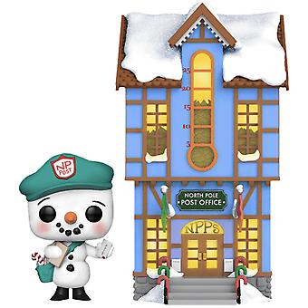 Peppermint Lane Frosty Light Up Post Office US Ex Pop! Town