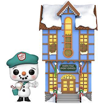 Peppermint Lane Frosty Light Up Post Office US Ex Pop! Ville