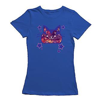 Kawaii Galaxy Cat Graphic Women's T-shirt