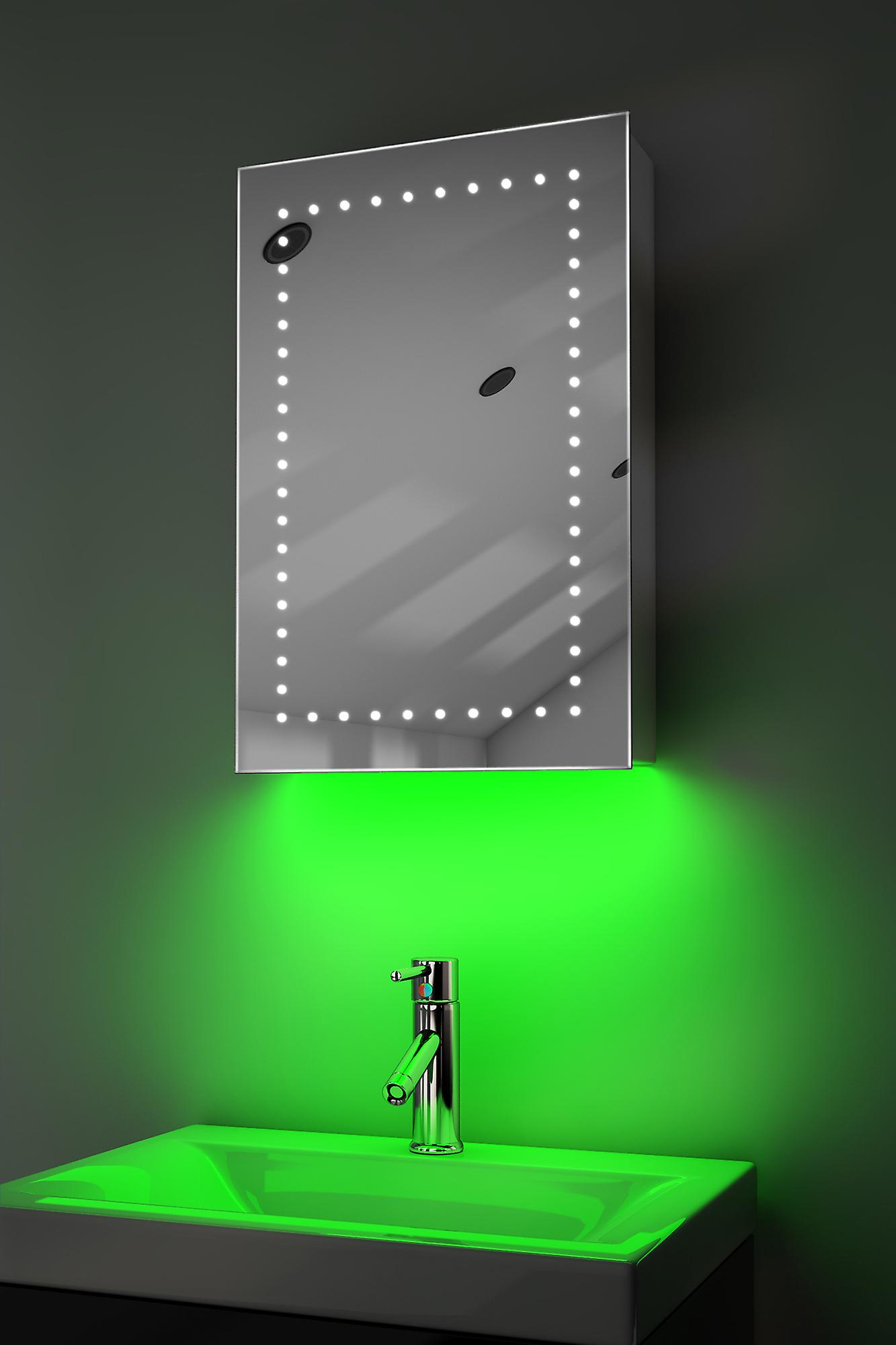 Demist Cabinet With RGB , Sensor & Internal Shaver k347rgb