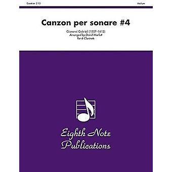 Canzon Per Sonare #4 - Score & Parts by Giovanni Gabrieli - 978155