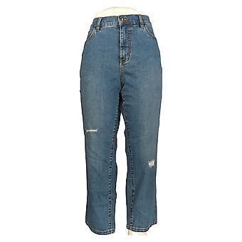 Denim & Co. Women's Petite Jeans Classic Denim Indigo Blue A304476