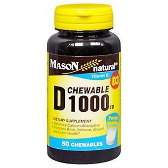 Mason natural vitamin d, 1000 iu, chewables, 50 ea
