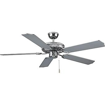 Ceiling fan Super Star Chrome with pull cord 132cm / 52