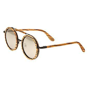 Earth Wood Bondi Polarized Sunglasses - Zebrawood/Silver