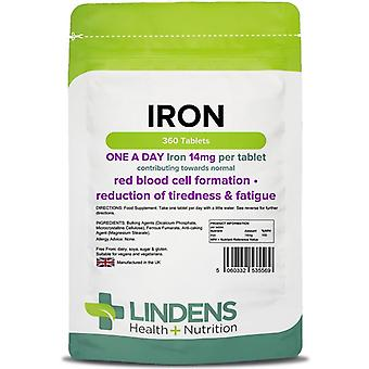 Lindens Iron 14mg Tablets 360 (5569)