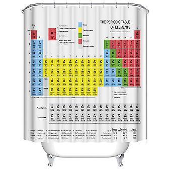 Периодическая таблица элементов душ Занавес прочная водонепроницаемая ткань с 12 крючками 180x180cm