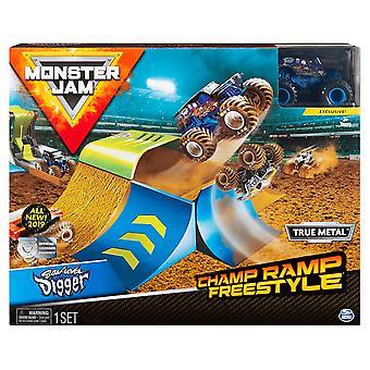 Monster Jam Champ Ramp Freestyle și Camion - 1:64 Scară Son-Uva Digger