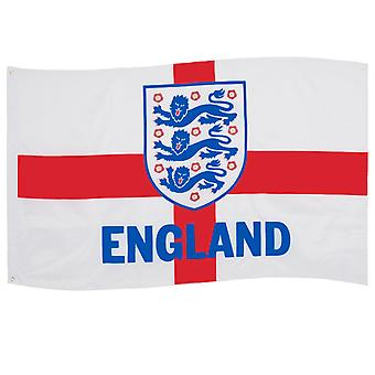 Engeland FA Vlag 5x3ft 3 Lions St.George Cross OFFICIAL Football Gift