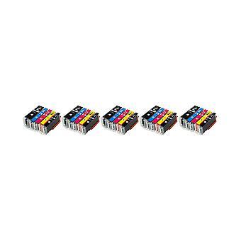 RudyTwos 5 X Ersatz für Canon PGI-580BKXXL CLI-581XXL Set Tinte Einheit schwarz Cyan Magenta & Gelb (Extra hoher Ertrag) kompatibel mit Pixma TS8150, TS8151, TS8152, TS9150, TS9155