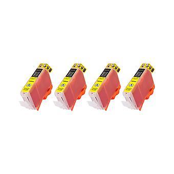 RudyTwos 4 x produit compatible pour Canon CLI-8Y encre unité jaune Compatible avec Pixma iP4200, iP4300, iP4500, iP5100, iP5200, iP5200R, iP5300, MP500, MP530, MP600, MP600R, MP610, MP800, MP800R, MP810, MP830,