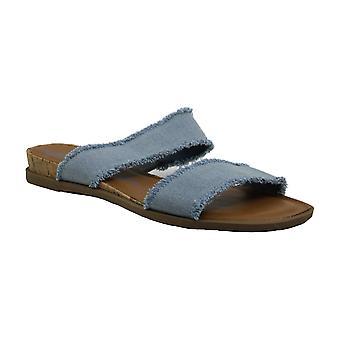American Rag Womens Easten Leather Open Toe Casual Slide Sandals