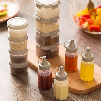 Plastové šalátové dressing squeeze fľaša - korenie dávkovač