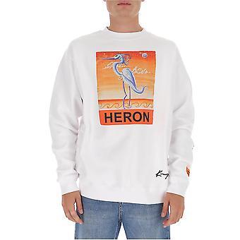 Heron Preston Hmba014f20jer0190120 Men's White Cotton Sweatshirt