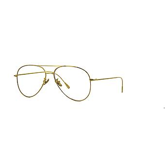 Cutler and Gross 1266 GPL Gold Plated-Clear Glasses