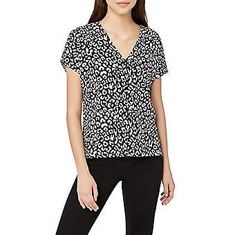 見つける。女性とアポス;s VネックTシャツヒョウ、グレーEU XL(米国12-14)
