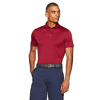 Essentials Men's Tech Stretch Polo, Maroon Heather, X-Large