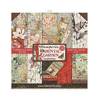 Stamperia Oriental Garden 8x8 Inch Paper Pack