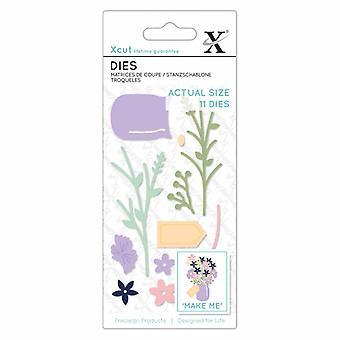 Xcut pequeno morre flor Jar (11pcs) (XCU 504118)
