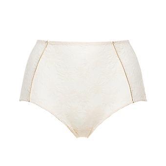 Miss Sans Complex Sous Le Charme 60QAF52-HJJ Women's Powder Ivory Floral Full Panty Highwaist Brief