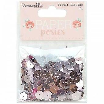 Dovecraft Paper Posies Flower Sequins