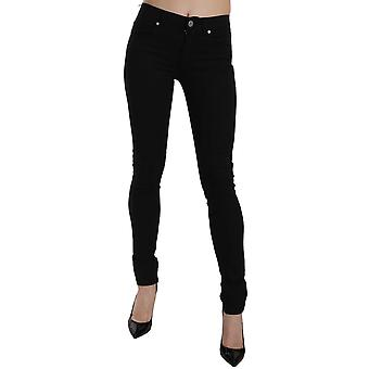 Versace Black Tiger Logo Gabardine Stretch Slim-Fit Pant -- PAN6943280