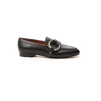Chloé Chc20a36891001 Women's Black Leather Loafers