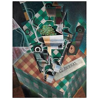 Print on canvas - Still Nature With Tablecloth A Paintings - Juan Gris - Painting on Canvas, Wall Decoration