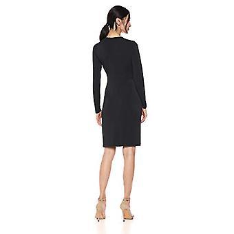 Lærke og ro kvinder's langærmet front-twist wrap kjole, sort, x-lille