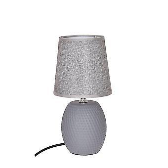 Table de lampe gris céramique H27 cm